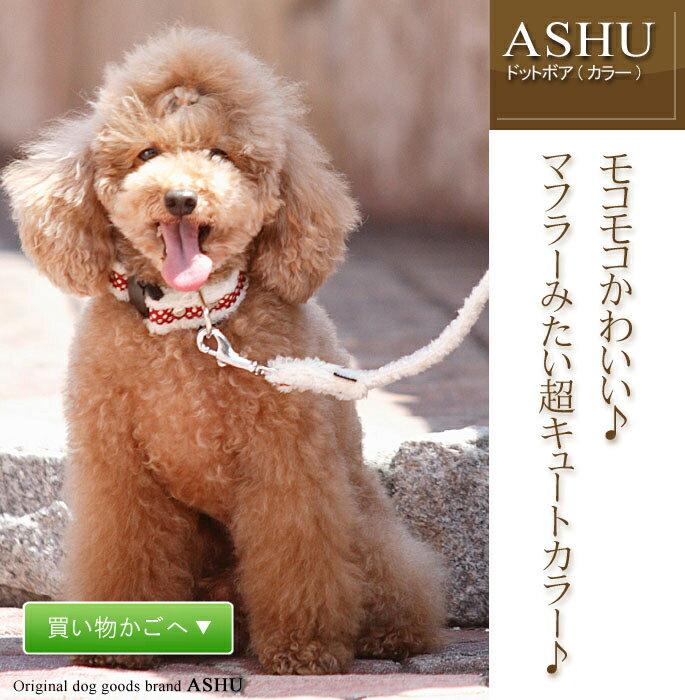 愛犬 首輪 ASHUドットボアカラー Mサイズ