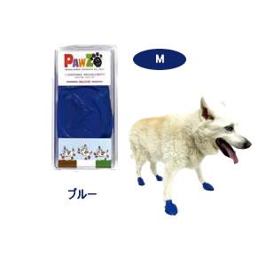犬 滑り止め ブーツ ラバーブーツM ブルー12枚入 中型犬 大型犬 靴下 レインシューズ 雨用 クツ 肉球保護 ケガの介護や汚れ防止に