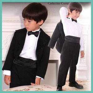 子供タキシード 5点フルセット 子供服 子供スーツ 男の子 キッズ ベビー フォーマル 黒 80 90 ...