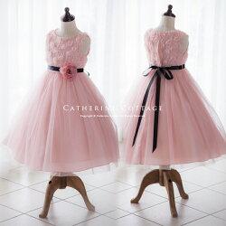 子供ドレス赤ピンク
