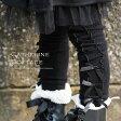 レギンス スパッツ YUP6 3つ並んだリボンがおしゃれなキッズ レギンス サテンリボン10分丈スパッツ XS S M[子供服(女の子)子ども ベビー 95 100 110 120 125 cm