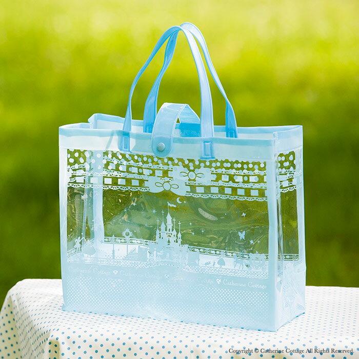 水色リトルシンデレラのビニールバッグ