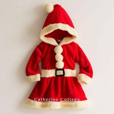 ベビー着ぐるみ クリスマス もこもこロンパース ベビーフォト サンタコス[ ベビー服 ワンピース 90 95 cm サンタ 衣装 コスチューム キッズ 子供 トナカイ 赤ちゃん 男の子 女の子 サンタクロース サンタさん ] TAK・・・ 画像2