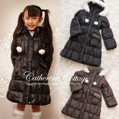 【送料無料】子どもドレスセール 子供ロング冬コート 長めの丈ですっぽり暖かい!2way中綿ロ...