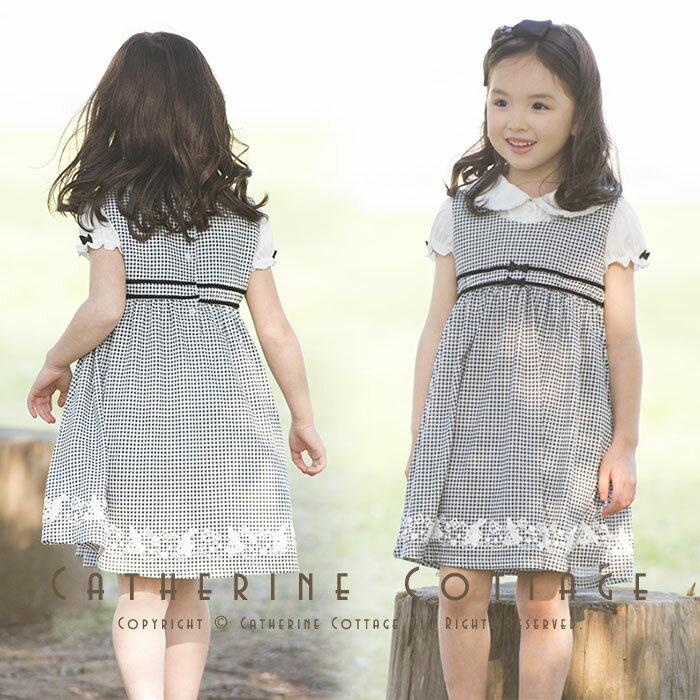b22995de9a732 入学式 子供服 女の子 アリスの千鳥格子フォーマルジャンスカ ワンピース ベビー キッズ