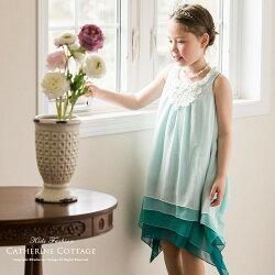 子供ドレス青