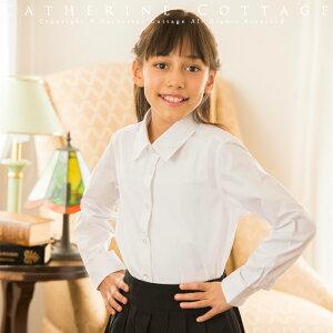 卒業式 スーツ 女の子子供服 女の子 フォーマルブロードシャツ[子供服 フォーマル シャツ14…