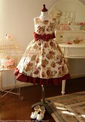 ゴブラン花プリント子どもドレス