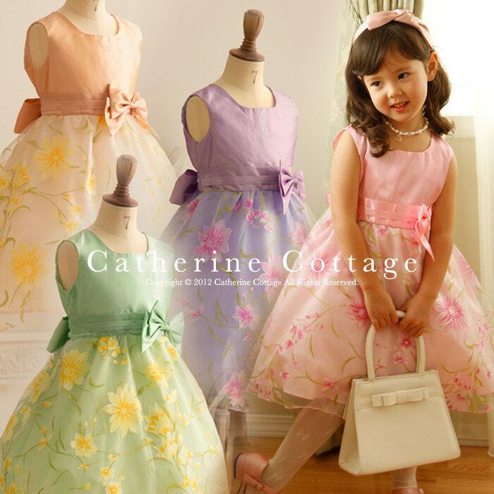 プチプラでこのかわいさ! 大人気の花柄 オーガンジードレス。ベビーサイズもあり。