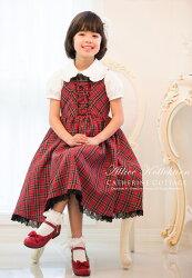 チェックジャンパースカート子供服入学式、七五三