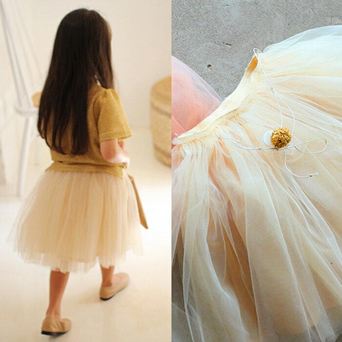 42b02d24e1cc8d 韓国子供服 Amber アンバー ジュディ チュチュスカート ベージュ[ キッズ 女の子 120 130 cm チュール