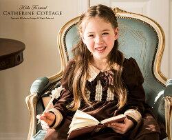 子供ドレス秋物冬物ベロアドレス