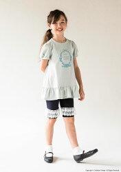 5分丈レギンスかわいいレースガーリーカジュアル韓国子供服風