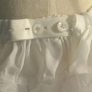 パニエ 子供 大人 共用 ボリューム アップ[女の子 キッズ ドレス 子ども ジュニア 大人 46 30 cm 丈 ペチコート レディース ウエストフリー 女の子 フォーマル 結婚式 ハードチュール 白 子供服] 送料無料 [ 返品不可]