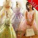 発表会 子供ドレス 女の子 フォーマル 子ども お姫様柄プリントのオー...