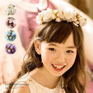 cb8b15ac9443d 花かんむり キッズ フラワーティアラ 子供   ウェディング 子供用 ピアノ 発表会 結婚式 フェス ヘアアクセサリー 花冠 白 ピンク 水色 ブルー  紫 フォーマル 女の子 ...