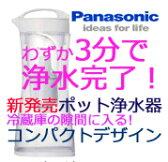 パナソニック ポット型浄水器 Panasonic TKCP12W 電気も使わない!安価で簡単!いつも手元においしいお水をご提供しますTK-CP-12【せしゅるは全品送料無料】【セルフリノベーション】