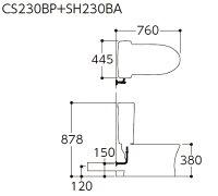 【全品送料無料】TOTOトイレピュアレストQR便器【CS230BP】タンク【SH230BA】壁排水排水心:120mm一般地用【RCP】