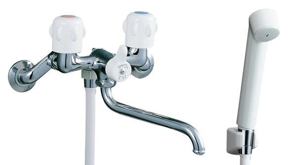 あす楽 BF-K651混合水栓浴室壁出しシャワーバス水栓ツーハンドル浴槽・洗い場兼用2ハンドルイナックス・リクシル浴室シャワー