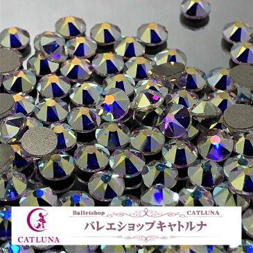 綺麗なダイヤモンドカットタイプビーズ スワロフスキー オーロラAB フラットタイプ 縦4.5mm/横4.5mm/高さ2mm【1個から購入可】
