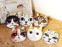 猫顔小物ポーチ デザイン全6種 ...