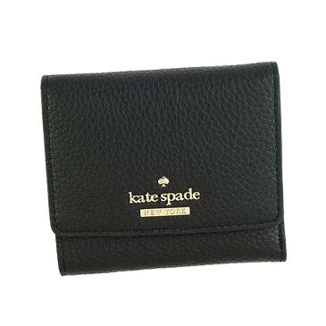 ケイトスペード Kate Spade PWRU5594 BK 001 三つ折り財布 ブラック【】【新品/未使用/正規品】