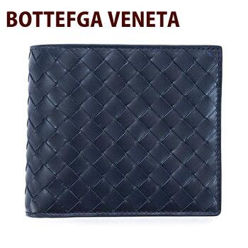 ボッテガヴェネタBOTTEGAVENETA財布二つ折り財布メンズダークネイビー193642V46514013