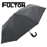 フルトンFULTON傘メンズ雨傘折りたたみ傘ストライプChelsea-2CityStripeブラックG818BLACK