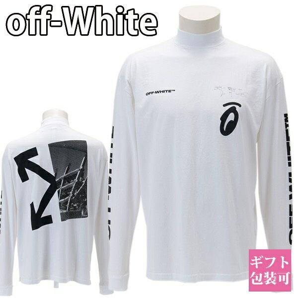 トップス, Tシャツ・カットソー  OFF-WHITE T SPLITTED ARROWS OVER MOCK TEE OMAB032E191850100110 WHITE BLACK