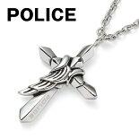ポリスPOLICEネックレスメンズペンダントクロス十字架クロウCROWシルバー25567PSS01SILVER