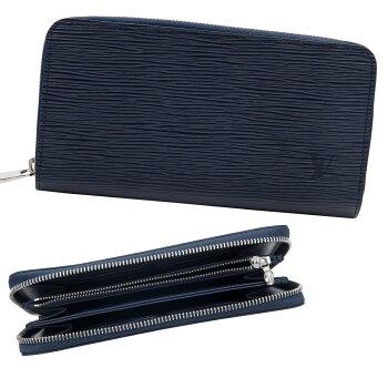 ルイヴィトンヴィトンLOUISVUITTON財布長財布レディースラウンドファスナーエピジッピー・ウォレットアンディゴブルーM60307