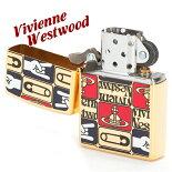 ヴィヴィアンウエストウッドVivienneWestwoodライターメンズレディースジッポライターZIPPOTAGSゴールド121800-18-F
