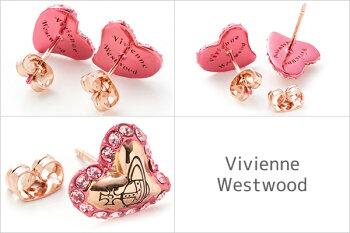 ヴィヴィアンウエストウッドVivienneWestwoodピアスレディースアクセサリーハートジタZITAEARRINGSピンクゴールドBE418/8