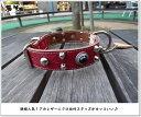 【ブヒ系】M&R Factory オリジナル・レッド・革製スタッズ首輪 mr0073【ボストンテリア】【フレンチブルドッグ】【パグ】【ブヒ】【レザーカラー】