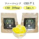 日本産 CBD 200mg CBD グミ 1粒 CBD 40mg含有 5個入り ファーマヘンプ 高濃度 CBDグミキャンディ