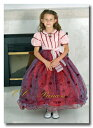 『情熱的で華やかなドレス≪スカーレット≫(CS-009)』 キッズドレス、 クラシカルドレス、 フォーマルドレス、 子供ドレス、 発表会、 結婚式、 赤、 レッド、 100・110・120・130・140 【CC-Princess】