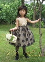 『黒バラ模様のワンピースドレス(GD-210)』 キッズドレス、 女の子、 ワンピース、 フォーマルドレス、 発表会、 結婚式、 パーティー、 90・100・110・120・130 【CC-Princess】