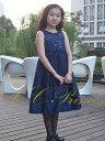 『スパンコールのワンピースドレス(GD-205)』 キッズドレス、 女の子、 ワンピース、 フォーマルドレス、 発表会、 結婚式、 パーティー、ネイビー、 ピンク、 レッド、 パープル、 90・95・100・110・120・130・140 【CC-Princess】