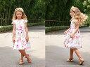 『キャンバス・フローラル・ワンピースドレス(リボンベルト付き)(GD-229)』女の子 子供服 夏 お出かけ キッズドレス、 女の子、 ワンピース、 フォーマルドレス、 発表会、 結婚式、 花柄、 90・100・110・120・130 【CC-Princess】