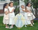 『コットン・ワンピースドレス(GD-060)』子供服、夏、ドレス、 お出かけ着、子供、 キッズ、ドレス、女の子、 ワンピース、 コットン、 ベージュ、 ブルー、 80-150cm 【CC-Princess】