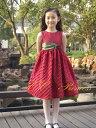 【アウトレット】『深紅のワンピースドレス(GD-202)』子供、キッズドレス、結婚式、発表会、赤、100cm【CC-Princess】