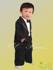 ≪(長袖シャツ)ベビータキシード・カバーオール 4点セット≫・BY-009・【お誕生日】1歳:男...