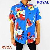 ルーカRVCAアロハシャツ半袖シャツショートスリーブシャツレギュラーフィットRVCAROMEOFLORALS/SShirtAJ041-135/S・M・L/ネコポス発送OK!(代引きは通常発送)