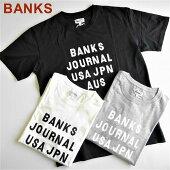 バンクスBANKSロゴプリント半袖TシャツHEMISPHERETEESHIRT/ATS0407/M・L/ホワイト・グレー・ブラック/ネコポス発送OK!(代引きは通常発送)