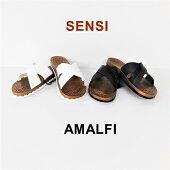 センシサンダル/SENSIAMALFI『PRESTIGIOCOLLECTION』26.5cm・27.5cm/ホワイト・ブラック