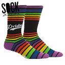 【メール便対応】Sock It To Me[ソック イット トゥ ミー] Team Pride ソックス メンズ 靴下 総柄
