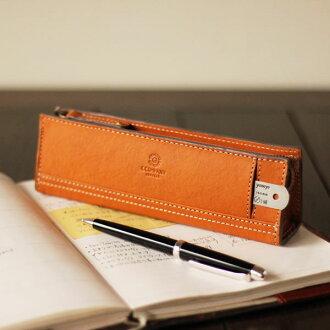 把鉛筆放案例 / 皮革 / 皮革 / 外部為尺規,以立場強硬的鉛筆盒 / 沃爾沃鉛筆盒 * 名稱不 Yep_1010P24Oct15