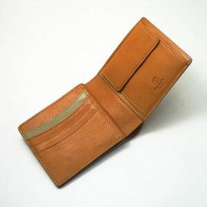 ボルボ・二つ折り財布(ブラウン)