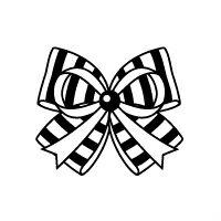 お名前スタンプ(気軽にシンプル7本セット) リボン・ダブル 【ネームスタンプ 名前はんこ】 (子供 幼児 小学生 幼稚園 女の子 入学祝い).