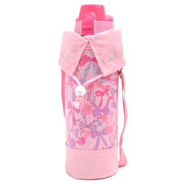 水筒カバー ラージタイプ リボン・デイドリーム (水筒カバー ショルダー 子供 ラージ 水筒 カバー 肩掛け 水筒 ケース ボトルカバー 水筒ケース 800ml 1 リットル 女の子)